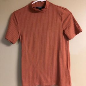 3/$20 Forever 21 Ribbed Mock Neck Tee